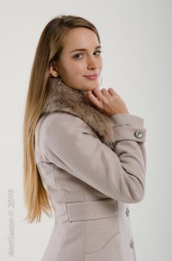 Svetlana bélelt szövetkabát